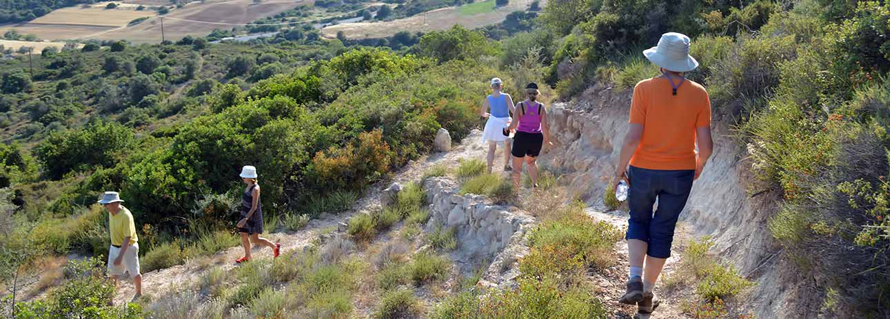 hikers and walkers welcome Attica's rural paths